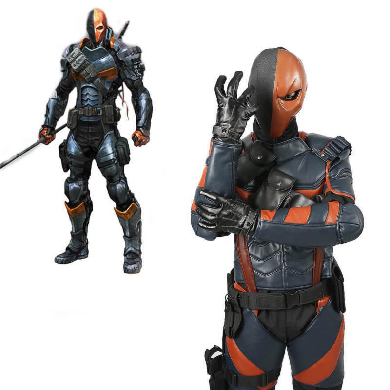 Batman Arkham Knight Deathstroke Armor Cosplay Costume Props Leather Fighter Men