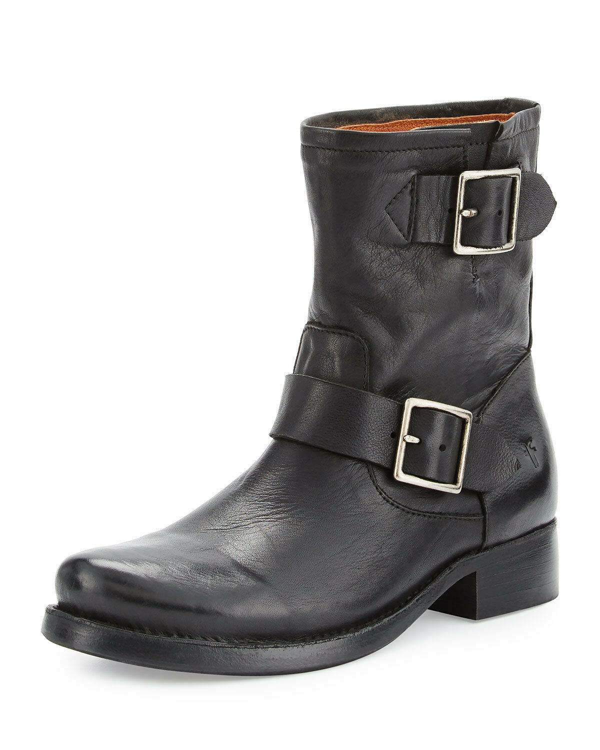 Frye VICKY Engineer Flat Short Zipper Side bottes Ankle démarrageies Riding chaussures 8