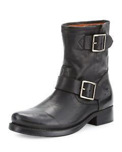 Frye-Vicky-ingegnere-piatto-lato-corto-cerniera-stivali-scarpa-caviglia-Bootie-Equitazione-7-5