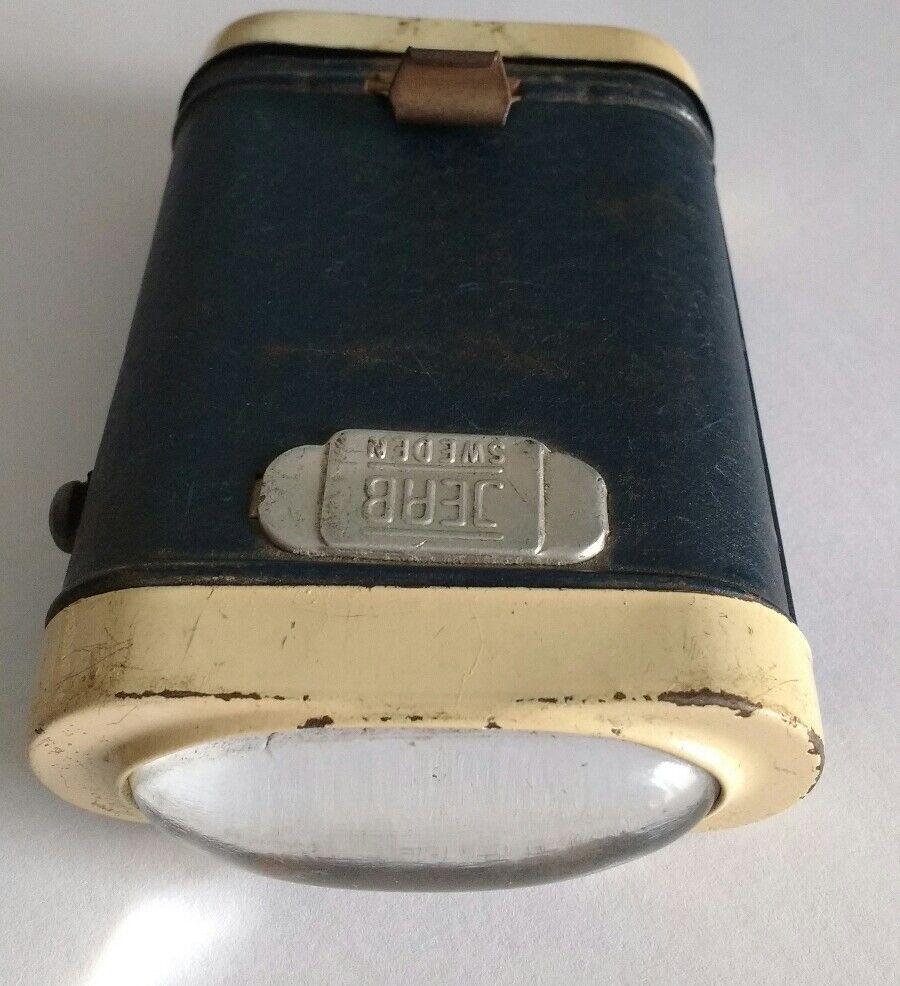 De poche lampe JEAN SUÈDE VINTAGE 1930 métal lanterne not pile