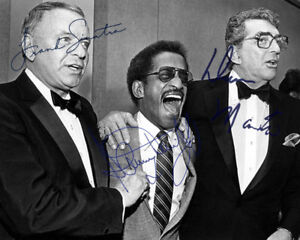 REPRINT - DEAN MARTIN ~ SINATRA ~ DAVIS ~ Autographed signed photo 8x10 RAT PACK