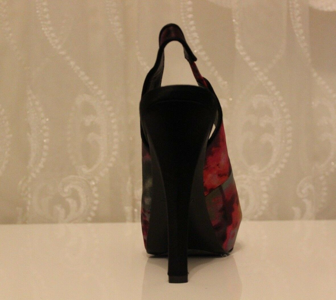 Karen Millen FN064 Tropical Smudge Print 5 Strappy Purple Shoe UK 5 Print  38 ae4138