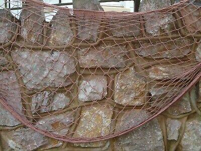 Gran red de pesca marrón oscuro 200 cm X 150 cm marítima barco arrastrero barco de pesca