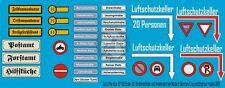 Peddinghaus 1/87 (HO) German Road / Traffic Signs & Street Name Plates WWII 933