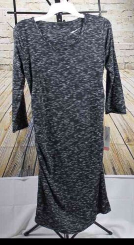 Liz Lange Maternity Spacedye dress Medium retail $27.99 Bodycon Grey ,,