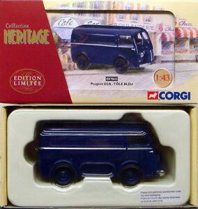 Corgi-patrimonio-frances-Azul-Peugeot-D3a-van-Tole-Bleu-ex70622