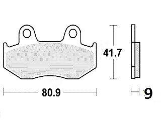 Jeu 2 plaquettes de frein Avant de qualité pr HONDA PS 125 I JF17 2006-2011