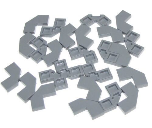 LEGO 25 NEW DARK BLUISH GREY 2 X 2 MODIFIED CORNER WITH CUT CORNER FLAT SMOOTH