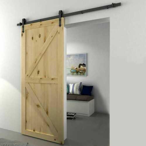 Sliding Barn Door Kit Matt Black Steel High Quality UK STOCK