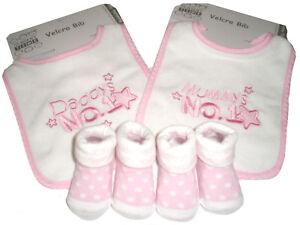 """Effizient Baby-geschenkset """"mummys No.1/ Daddys No.1"""" Rosa Baby Zwillinge Geburt Taufe Baby Ernährung"""
