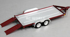 RC Scale Accessories METAL CAR TRAILER W/ Ramps 1/24 For KYOSHO MINI-Z  -BROWN-