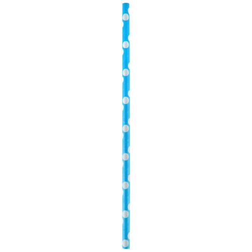 20 Strohhalme Trinkhalme /'Dots/' Punkte türkis
