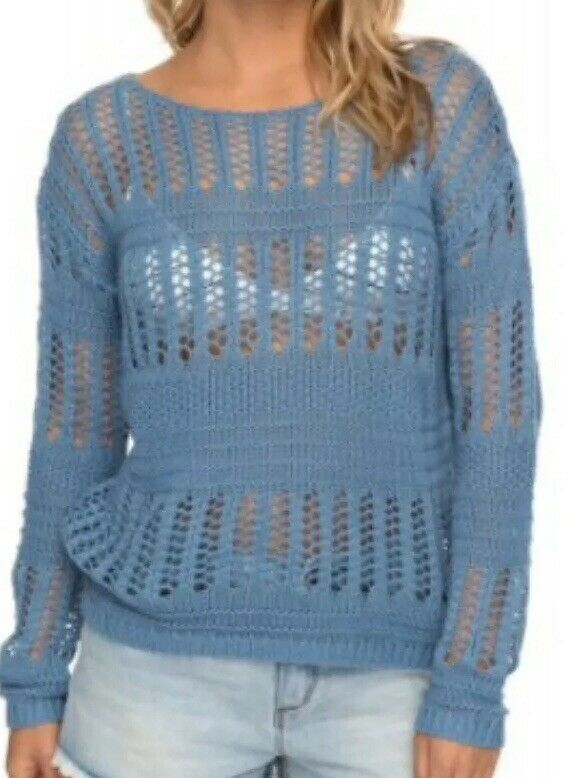 Roxy bluesh Seaview Jumper bluee Shadow Size M RRP  Box E122
