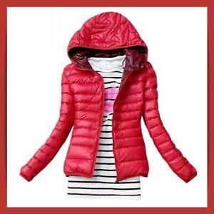 la mejor actitud 3e471 c9d35 Detalles de Abrigos para mujer, chaquetas mujer de invierno acolchada con  capucha informal- ver título original