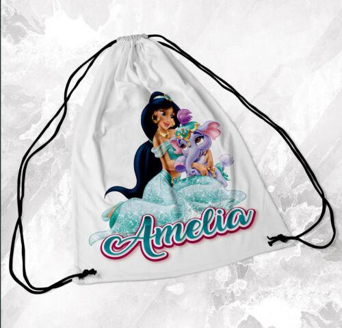 Personalised Drawstring Bag Any Name Princess Swimming School Nursery PE 1