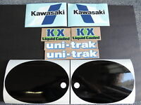 1983 Kawasaki Kx 125 Gas Tank, Swingarm, Rear Plate & Side Panel Decal Kit