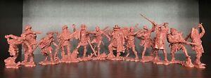 Publius Trappers (pionniers) collection complète brun-rouge 1:32 Caoutchouc Plastique