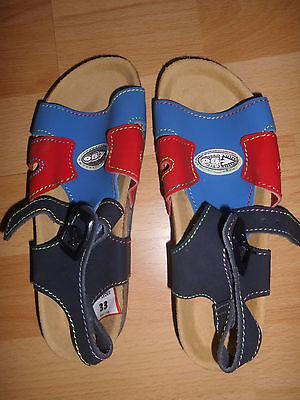 Sandalen mit Tiefziehfußbett aus Leder Gr. 33 von Chicobello unisex Jungs & Girl