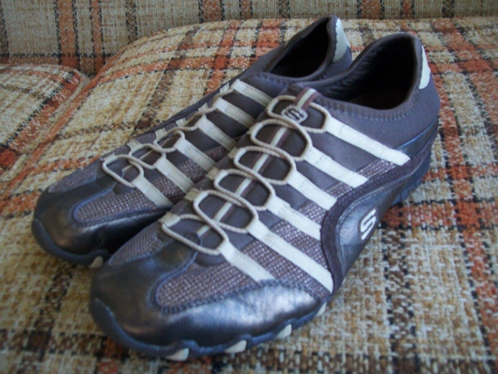 Skechers Womens 11 (41) Bronze Brown Slip On Fashion Sneakers 21483 BRZ