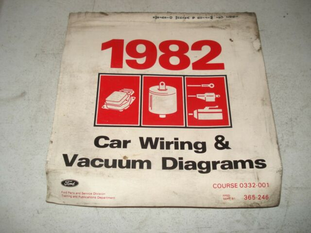 1982 Ford Wiring Diagrams Service Manual Mustang  U0026 More Electrical Shop Repair