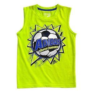 45a826329 Adidas Boys T-Shirt Tank Top Soccer Green Size-4, 6 or 7X NWT | eBay