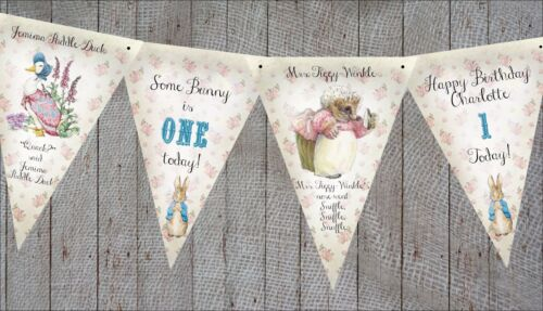 Any Occasion 3m Personalised Beatrix Potter Peter Rabbit Bunting//Banner