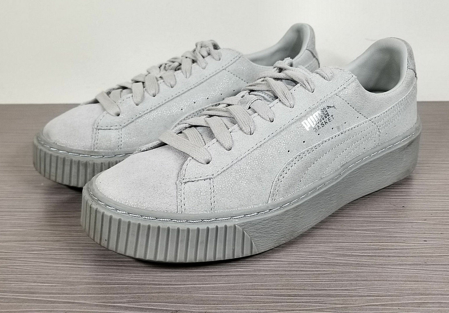 Puma Reset Platform Sneaker, Size Grey Violet Suede, Womens Size Sneaker, 7 / 37.5 f7f7cc