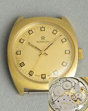 Schöne elegante MARVIN schweizer Uhr. Swiss vintage gold-filled retro suit watch