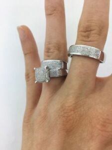 wow-14k-gold-over-diamond-bridal-engagement-ring-his-amp-her-trio-band-wedding-set