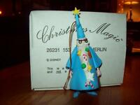 Christmas Magic Disney Merlin Ornament 26231-153 Grolier In Box