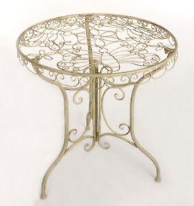 Gartentisch Metall Tisch Balkon Garnitur Nostalgie Eisen Gartenmobel