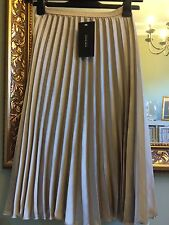 ZARA Accordion Pleated Skirt In Champagne Medium BNWT Wedding Occasion
