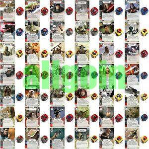 SWD Star Wars Destiny RISVEGLI Carte Singole LEGGENDARIE IN ITALIANO CON DADO kaartspellen