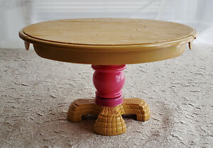 Details about Vtg Fisher Price Briarberry Bear Furniture Kitchen Table  Round Sides Fold Down
