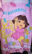 DORA THE EXPLORER BUTTERFLIES S/BED QUILT DOONA COVER + P/CASE GIRLS PINK EX CON