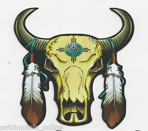 BUFFULO-SKULL-WITH-FEATHERS-HELMET-STICKER