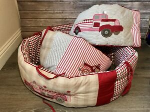 Details About Pottery Barn Baby Boy Crib Per Jakes Fire Truck Nursery Red