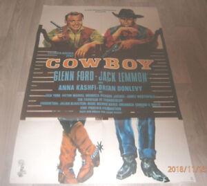 A1 Filmplakat  COWBOY ,GLENN FORD,JACK LEMMON