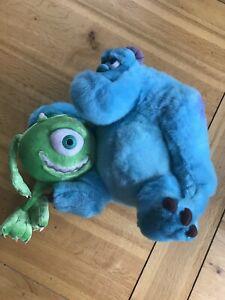 "Disney Monster Inc Sully & Mike Peluche Giocattolo morbido Walt Disney 12"" Money Box World"