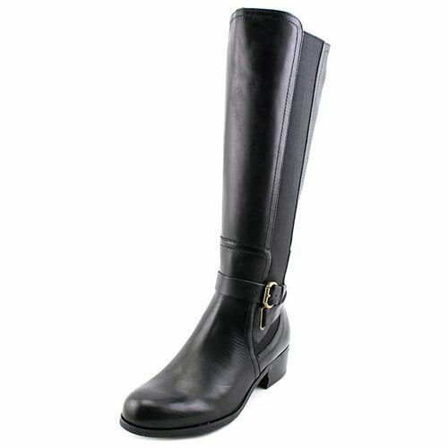 Corso Como 9101 Womens Black Baylee Vintage Calf Leather Knee-High Boots Size 6M