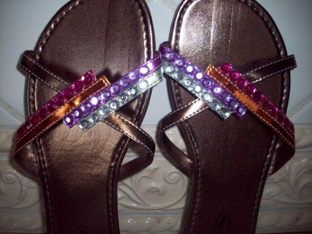 Ladies' Wedge Beaded Sandals Flip Flops