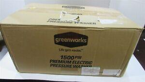 Greenworks Pressure Washer - 1500 PSI 13Amp 1.2 GPM - GPW1501 Portable