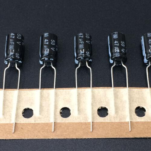 10pcs 47uF 50V47UF 6.3X11mm NIC NRSZ LOW IMPEDANCE electrolytic Capacitor