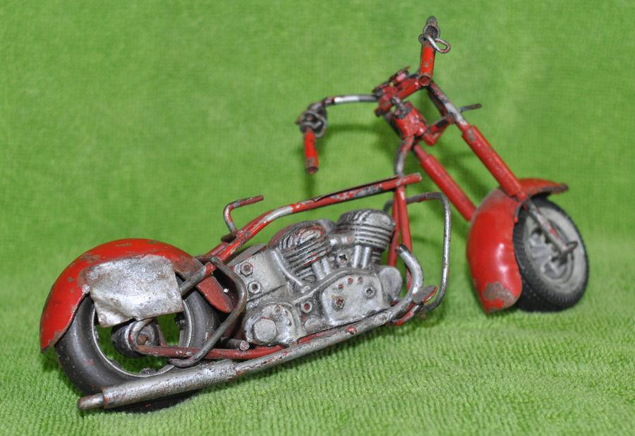 ALL METAL VINTAGE HANDMADE MODEL MOTORCYCLE MOTORCYCLE MOTORCYCLE 7fa43d