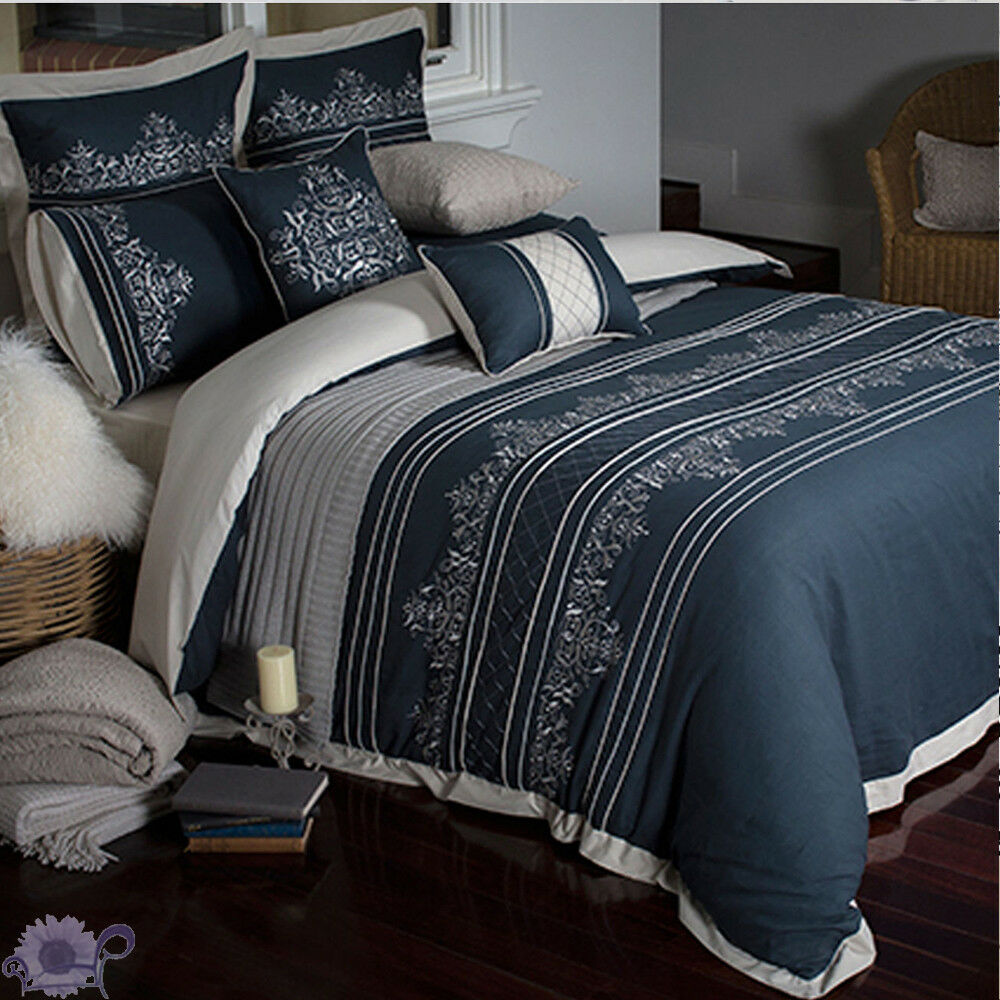 Beaufort Duvet   Doona Quilt Cover Set   3 piece   Decorative Embroidery   King