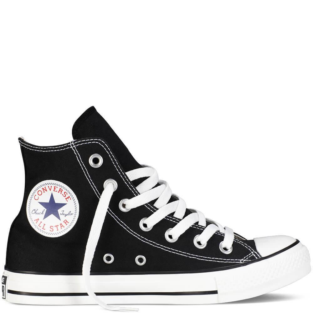 ORIGINALI  CONVERSE ALL STAR HI ALTE CHUCK TAYLOR NERE BIANCHE scarpe UOMO Damens