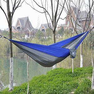 Image Is Loading OuterEQ Portable Parachute Nylon Fabric Travel Camping  Hammock