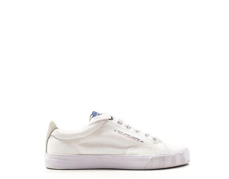 shoes Pepe Jeans Man BIANCO Fabric PMS30422-595