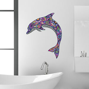 Image Is Loading Purple Dolphin Bathroom Wall Sticker Kids Room Decal