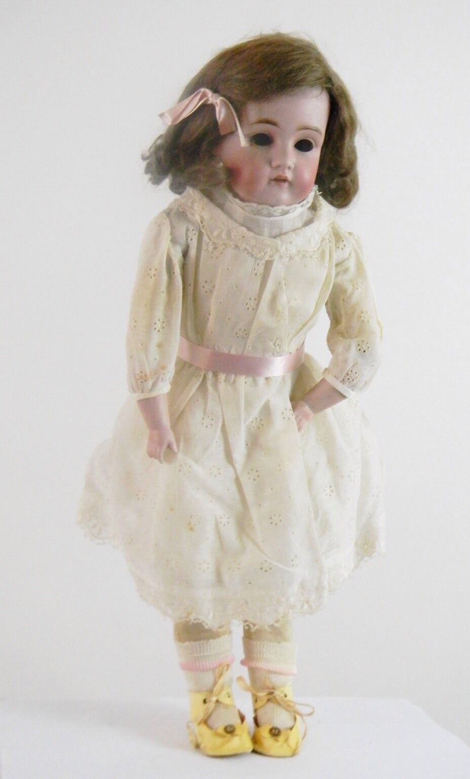 19thC Rare Cork Stuffed JDK Dep 10 154 Kestner Bisque Head Antique 23 Doll